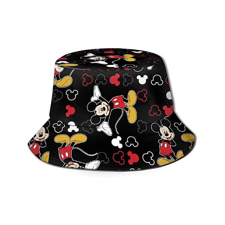 Unisex Fashion Printed Bucket Hat Summer Travel Outdoor Fisherman Cap for Women Men Teens
