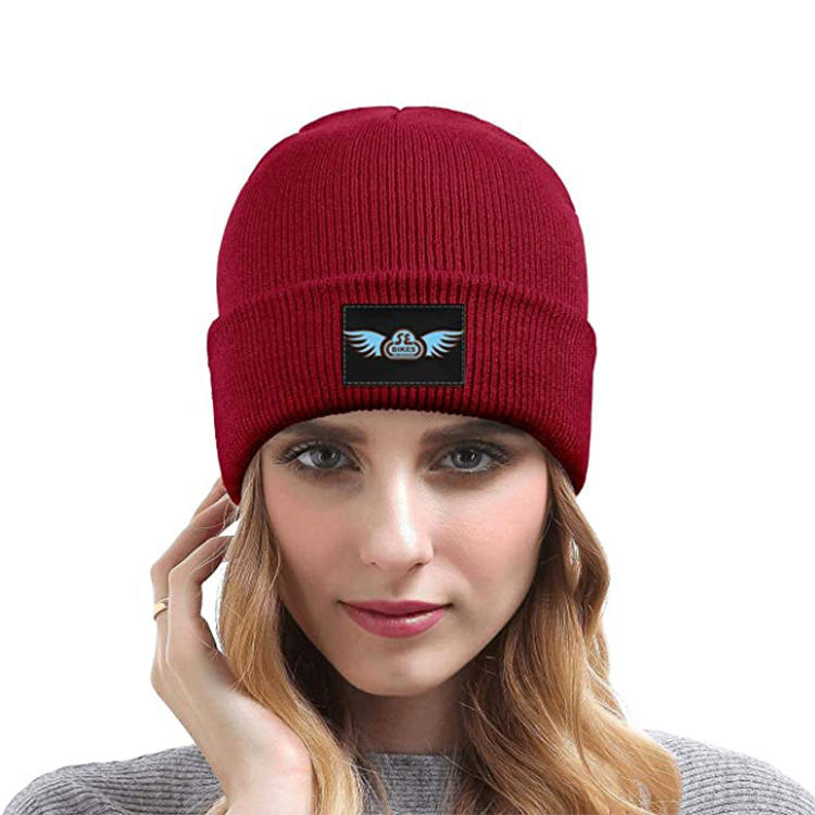 Men/Women Winter Warm Knit Beanie Cap Skull Cap red Cloud used for cold winter