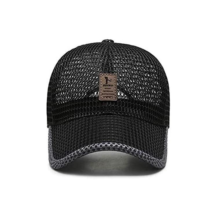 Breathable Mesh Baseball Cap Mesh Trucker Hat Air Mesh Hat Adjustable 6-Panel Hat Outdoor Sports Wear