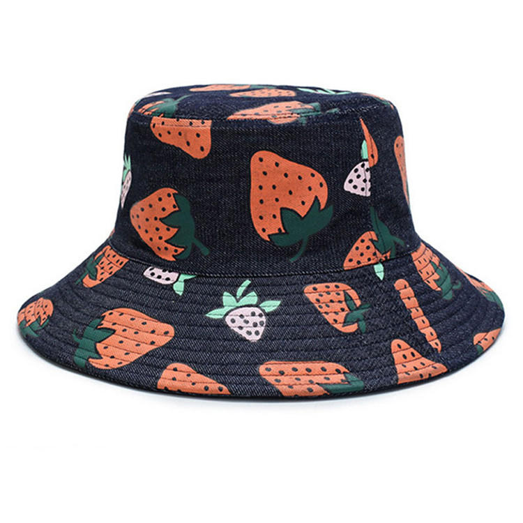 Bucket Sun Hat Women Packable Fisherman Denim Floppy Hats