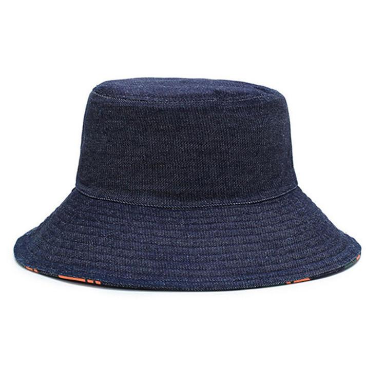 Women Sun Bucket Hat Cotton Hats Teens Girls Wide Brim Floppy Summer Beach Caps