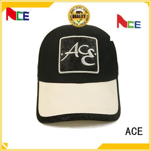 ACE at discount baseball cap with embroidery free sample for baseball fans