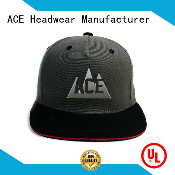 ACE color personalised snapback caps supplier for beauty
