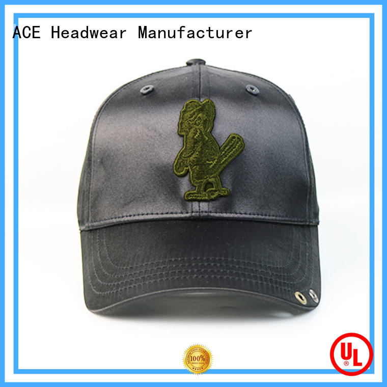 ACE solid mesh custom baseball caps buy now for beauty