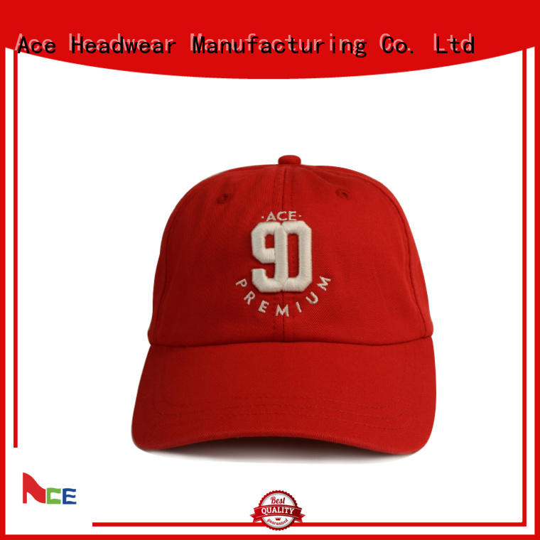 ACE gold personalized baseball caps OEM for baseball fans