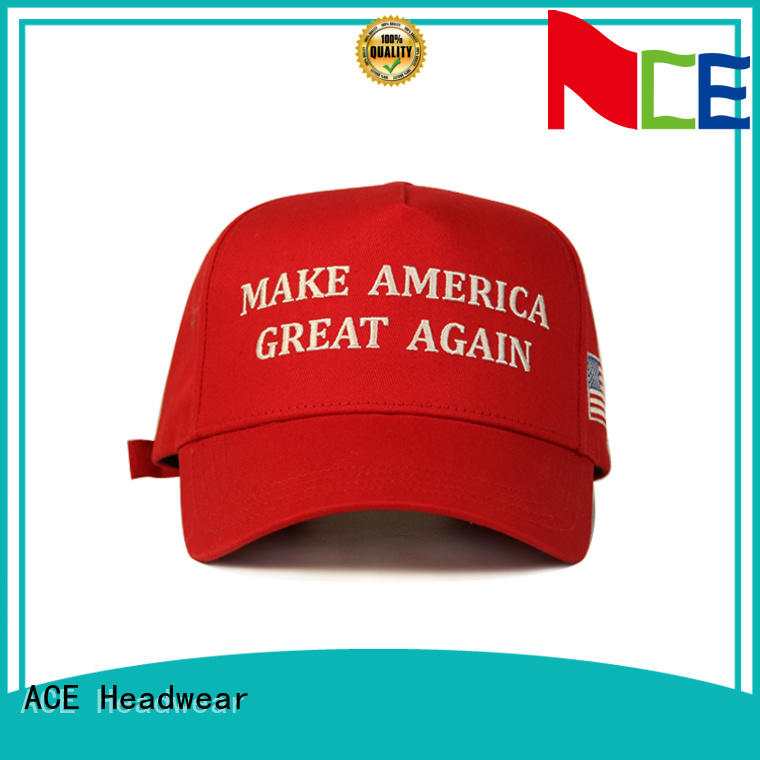 ACE high-quality embroidered baseball caps free sample for fashion