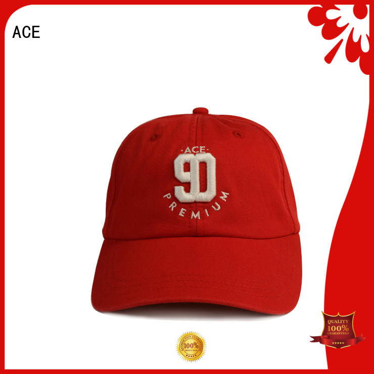 ACE curved cool baseball caps bulk production for beauty