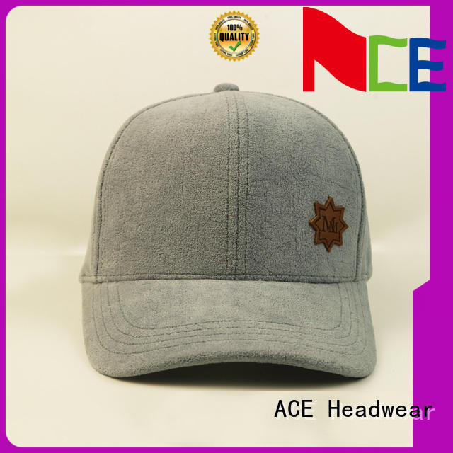 ACE corduroy custom baseball caps OEM for baseball fans