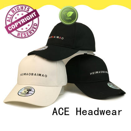 ACE high-quality plain baseball caps free sample for fashion
