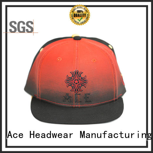 ACE durable mens snapback hats ODM for fashion