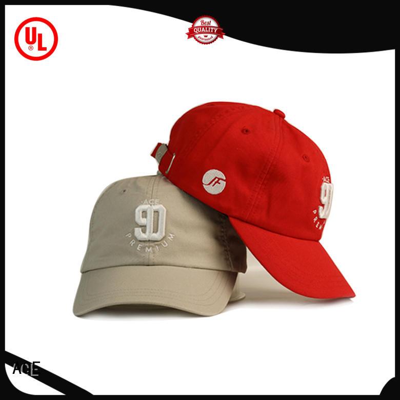 ACE unisex black baseball cap customization for fashion