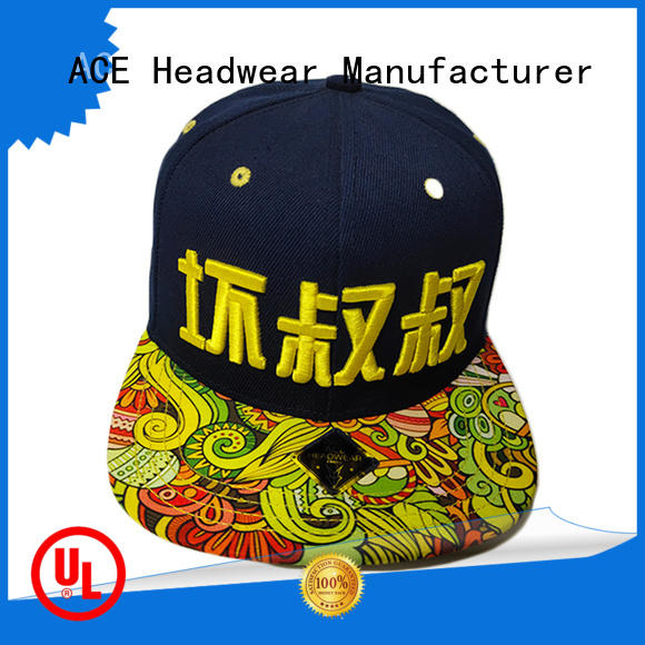 ACE tiger blank snapback hats buy now for fashion