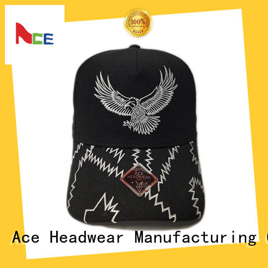 ACE on-sale logo baseball cap bulk production for beauty