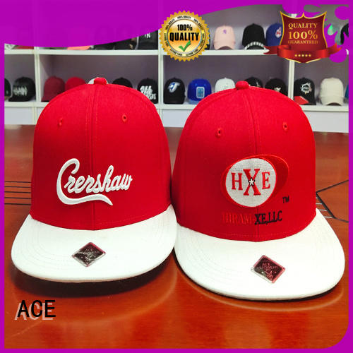 ACE panel plain snapback hats OEM for beauty
