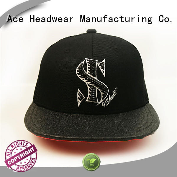 ACE pattern blank snapback hats customization for beauty