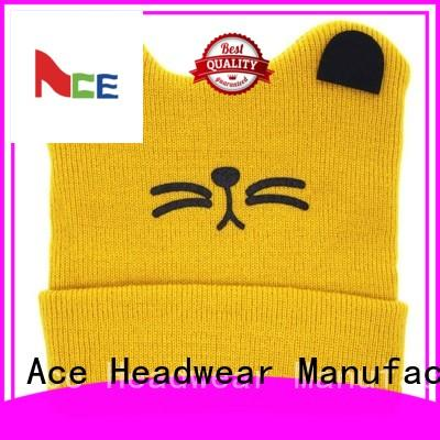 ACE beanies grey knit beanie customization for fashion