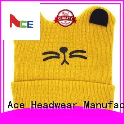ACE beanies grey knit beanie customization for fashion