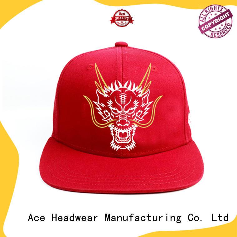 ACE caps blue snapback hat OEM for fashion
