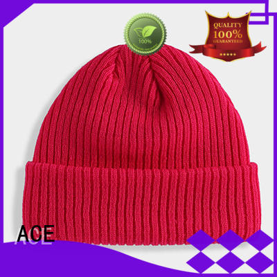 ACE knitted knit beanie hats bulk production for beauty