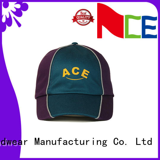 ACE at discount red baseball cap bulk production for fashion