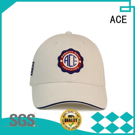 ACE fashion leather baseball cap ODM for fashion