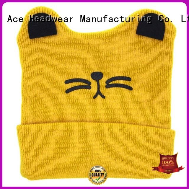 funky knit beanie basic customization for fashion
