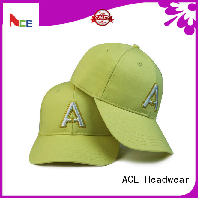 ACE proof black baseball cap supplier for fashion