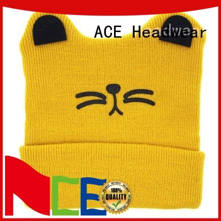 ACE purple knit beanie hats free sample for fashion