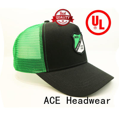 ACE solid mesh classic trucker cap free sample for beauty