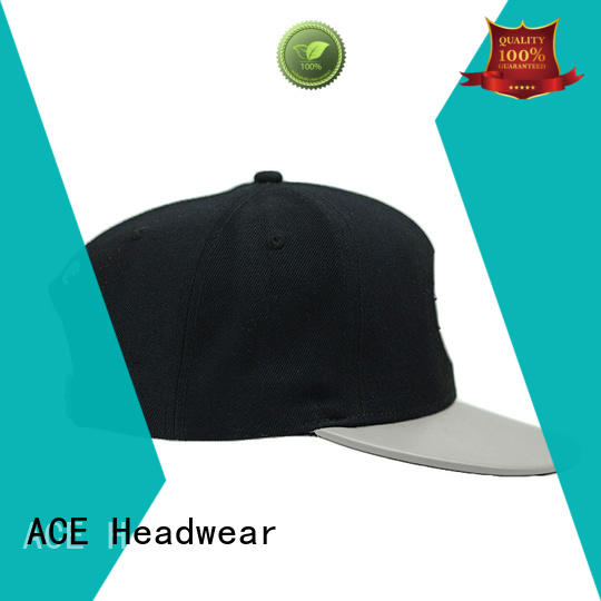 ACE grid blue snapback hat customization for fashion