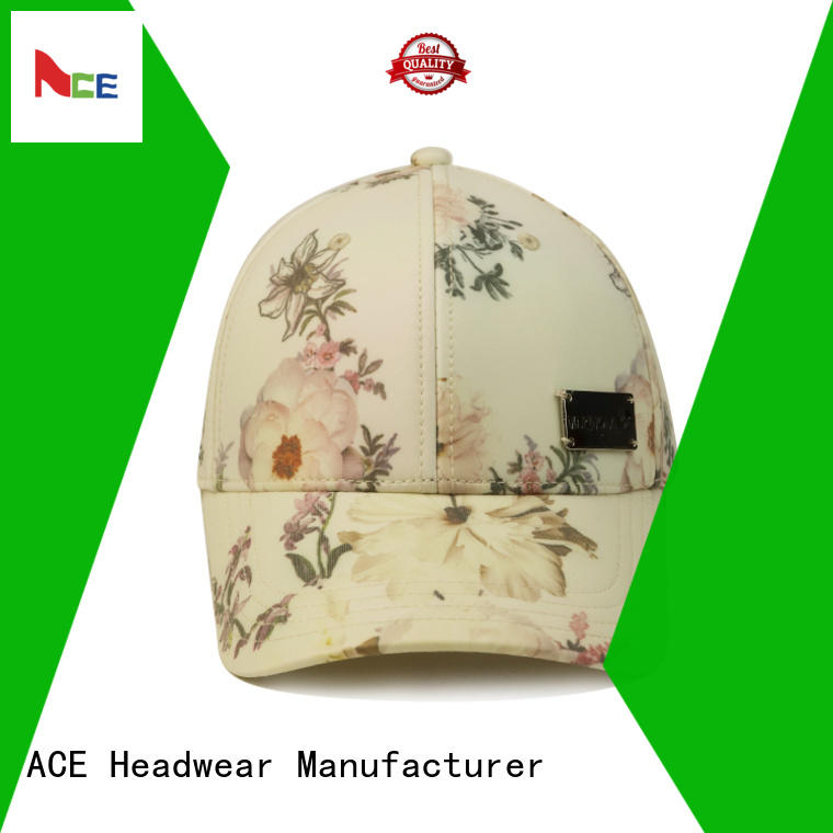 ACE curved baseball cap with embroidery customization for fashion