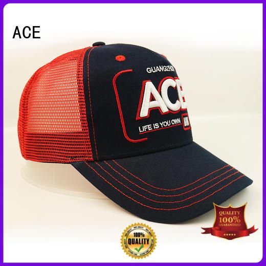 ACE words vans trucker cap OEM for fashion
