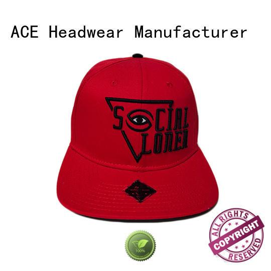 ACE portable bulk snapback hats ODM for beauty