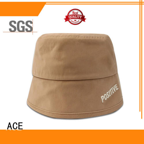 ACE string white bucket hat supplier for fashion