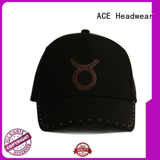 ACE glitter black baseball cap buy now for baseball fans