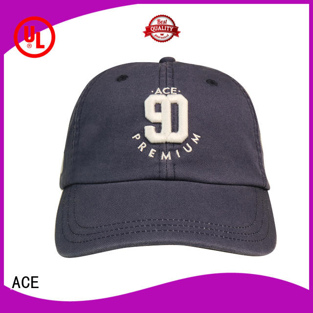 ACE printing dad hats wholesale bulk production for fashion