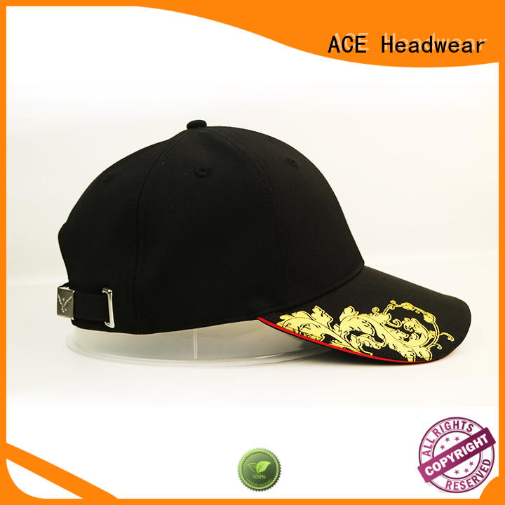 ACE latest best baseball caps OEM for fashion