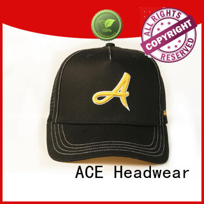 durable trucker cap design leather ODM for fashion