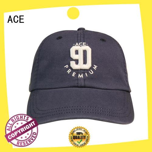 ACE plain types of baseball caps supplier for baseball fans