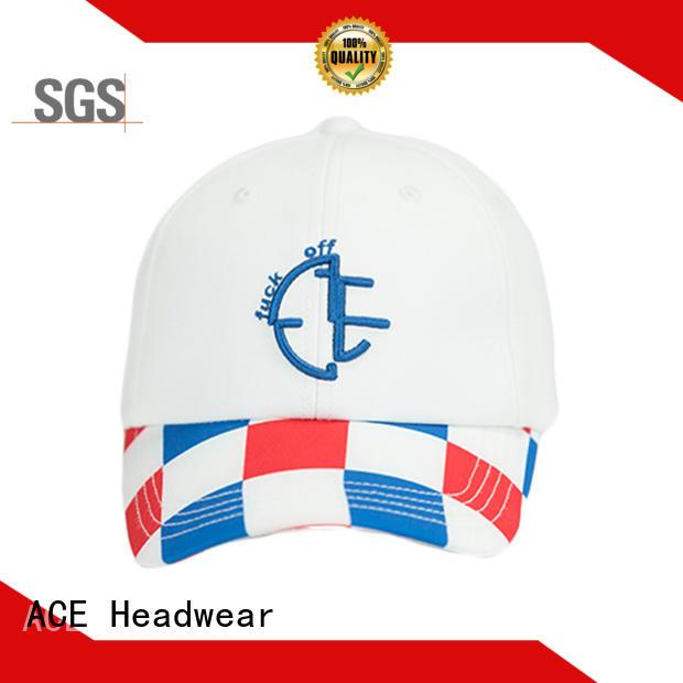 ACE Breathable custom baseball caps buy now for beauty