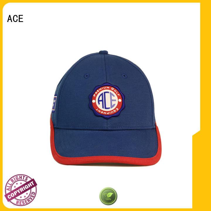 ACE black red baseball cap bulk production for fashion
