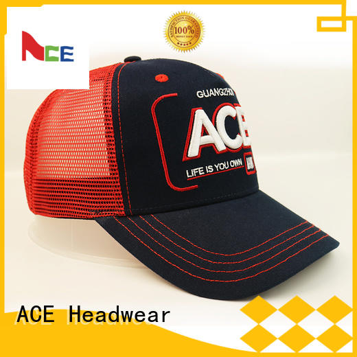 ACE Breathable trucker cap free sample for beauty
