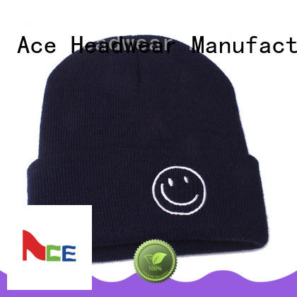 ACE black womens knit beanie ODM for fashion