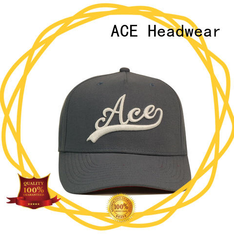 ACE Breathable red baseball cap buy now for fashion