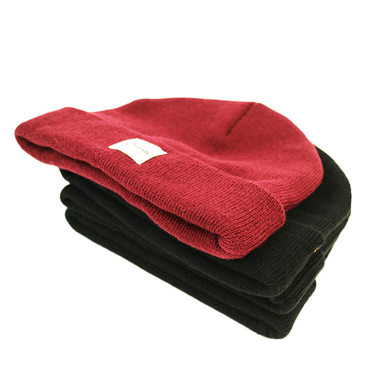 funky red knit beanie basic buy now for beauty-2