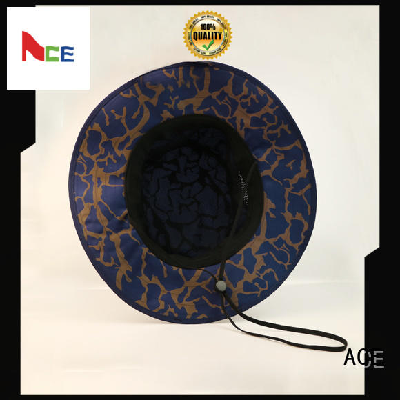 Breathable blue bucket hat feature OEM for beauty
