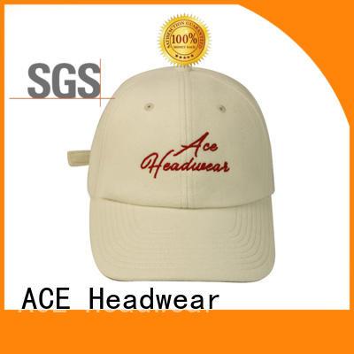ACE adult embroidered baseball cap OEM for baseball fans