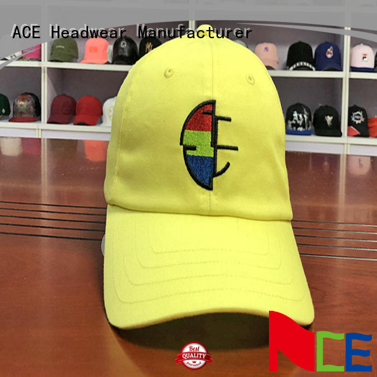 ACE Breathable plain dad hats free sample for beauty