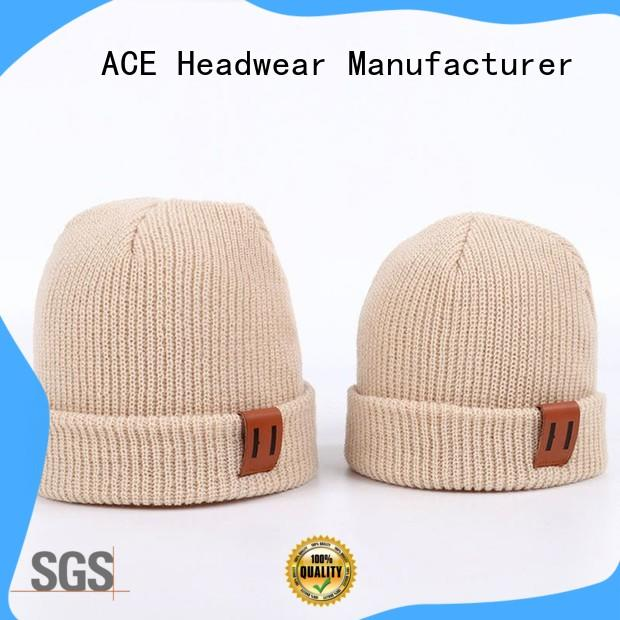 ACE basic grey knit beanie for wholesale for fashion