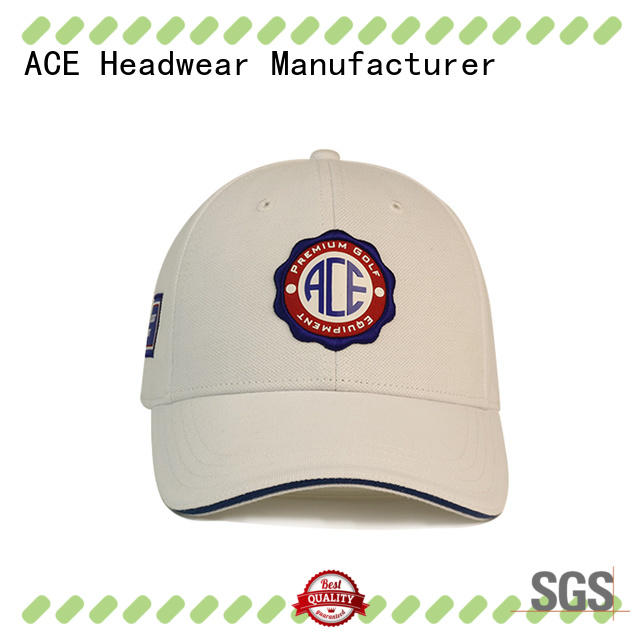ACE patch embroidered baseball cap supplier for fashion
